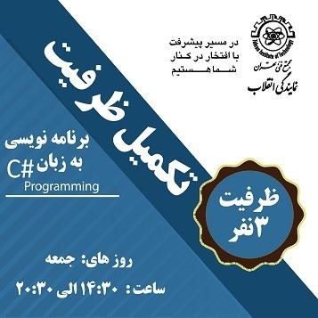 تکمیل ظرفیت 2 آموزش برنامه نویسی به زبان #c